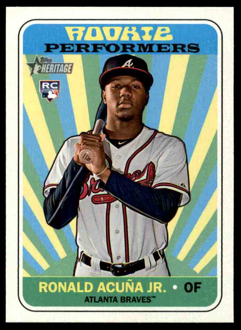 2018 Topps Heritage Ronald Acuna Jr Rookie Card On