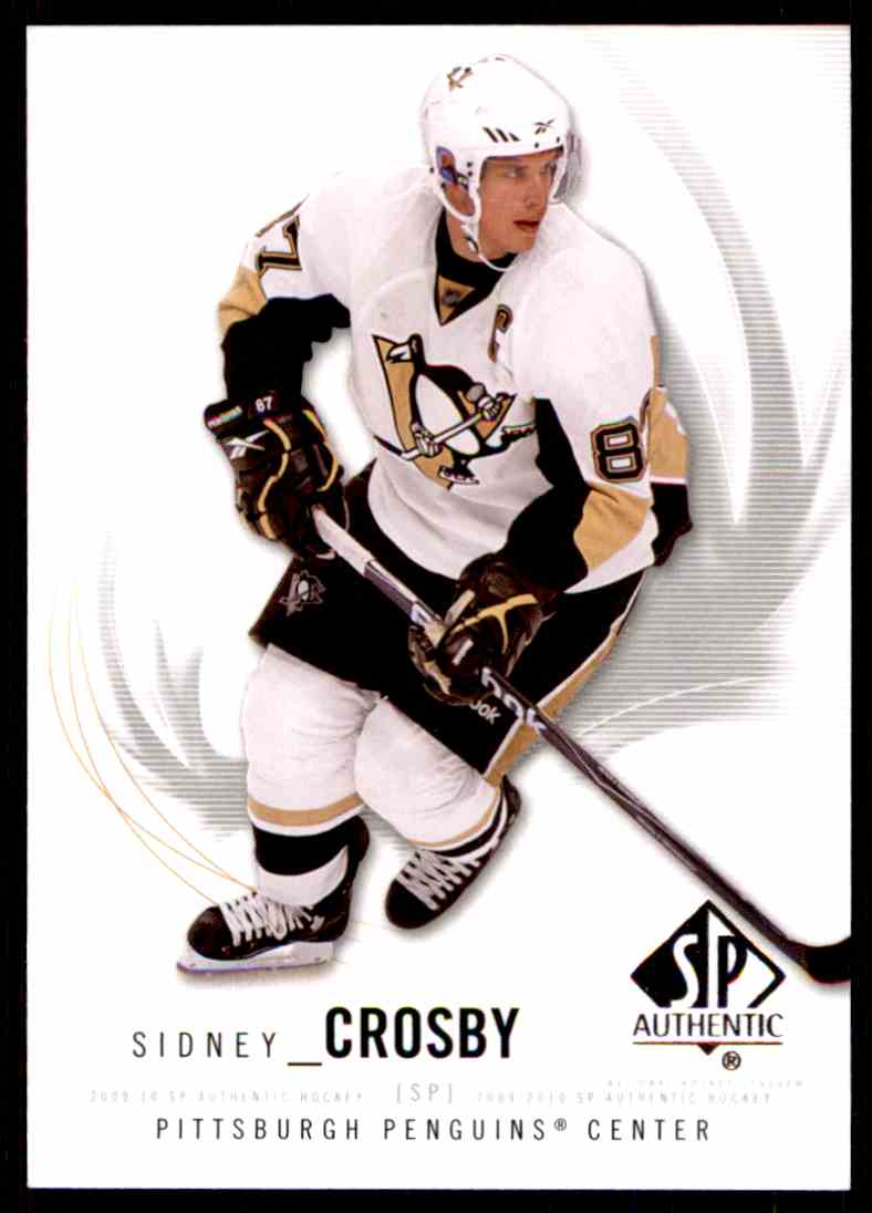 2009-10 SP Authentic Sidney Crosby #87 card front image