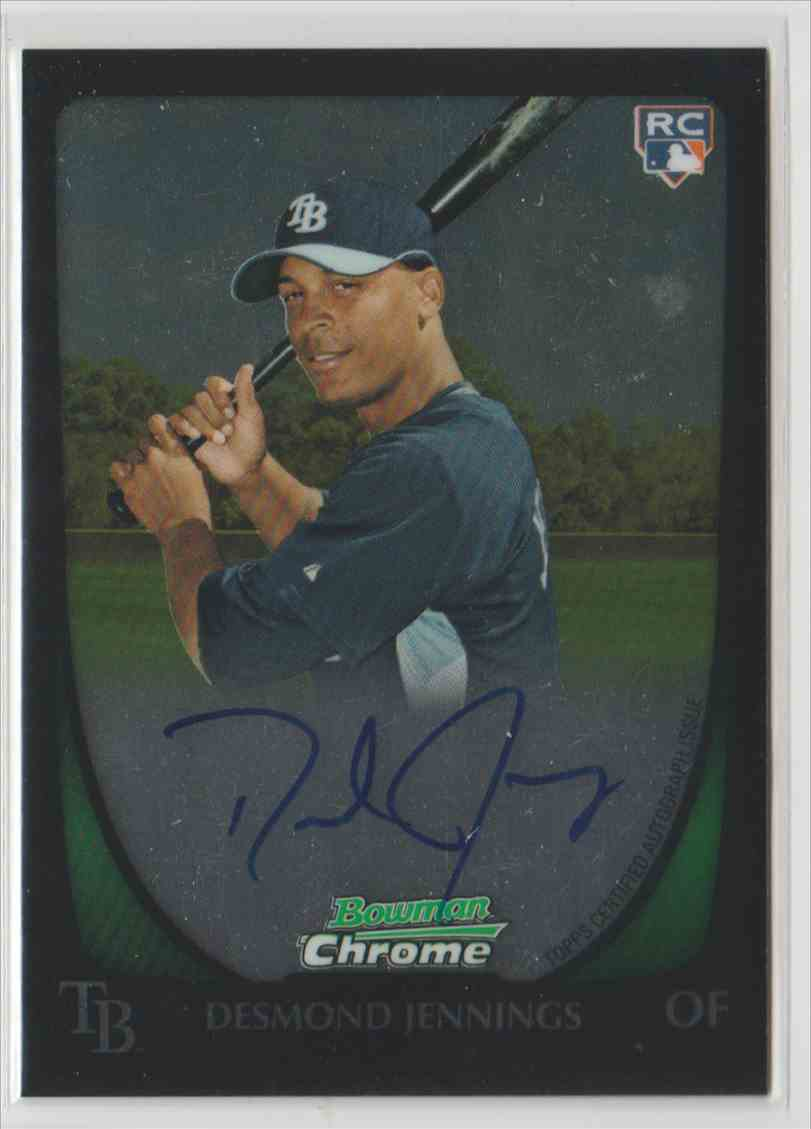 2011 Bowman Chrome Rookie Autographs Desmond Jennings #203 card front image