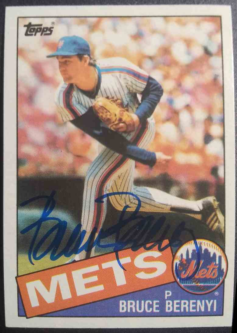 1985 Topps Bruce Berenyi #27 card front image