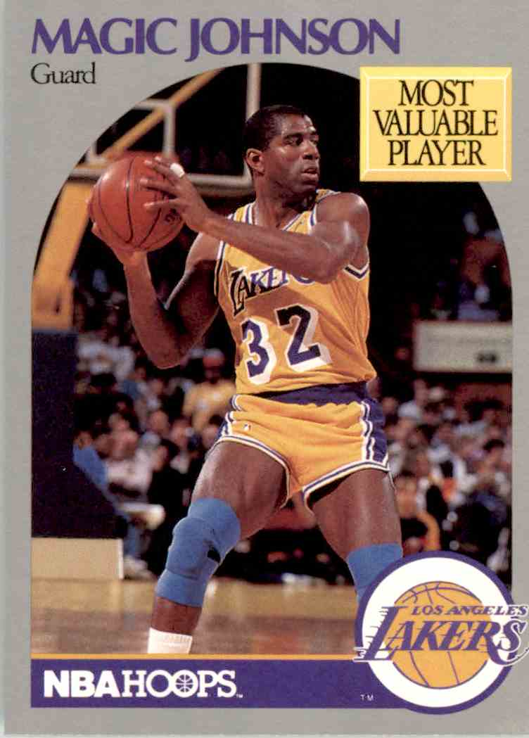 1990-91 NBA Hoops Magic Johnson #157 card front image