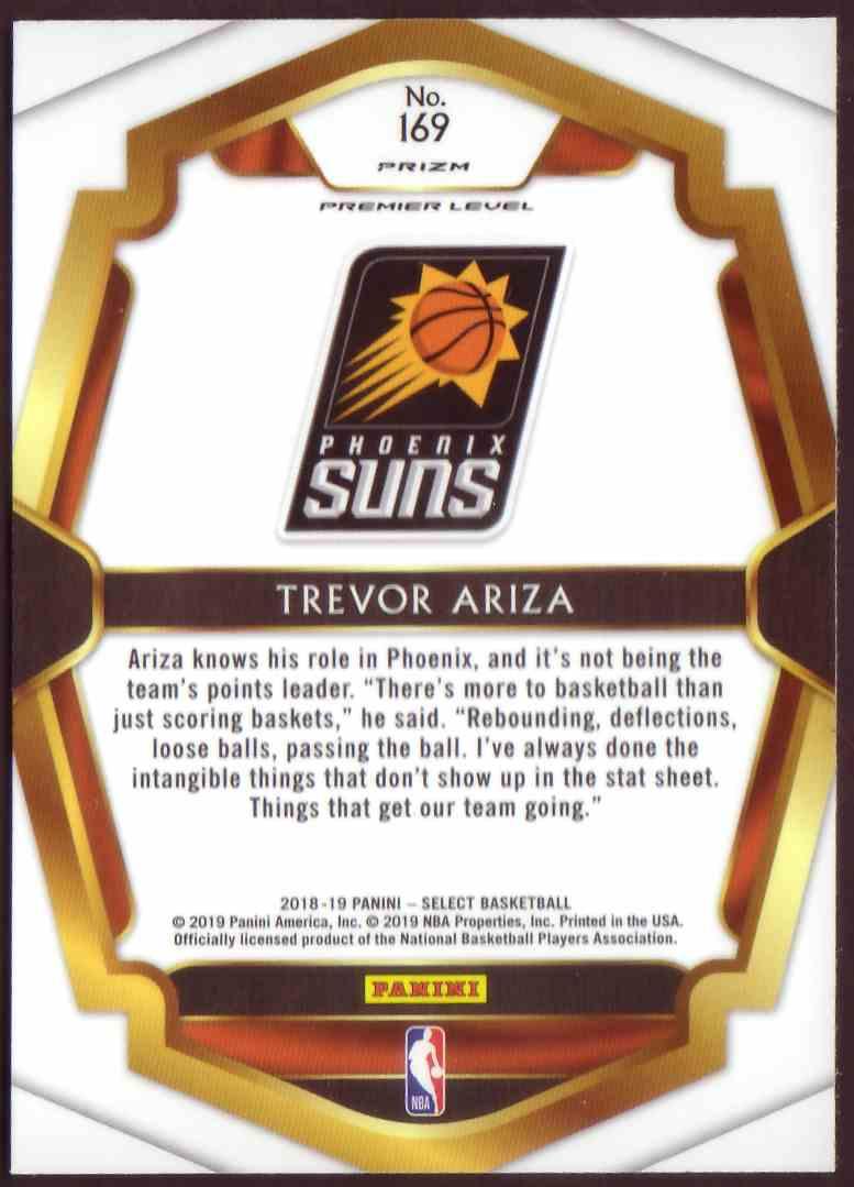 2018-19 Panini Select Premium Level Prizm Silver Trevor Ariza #169 card back image