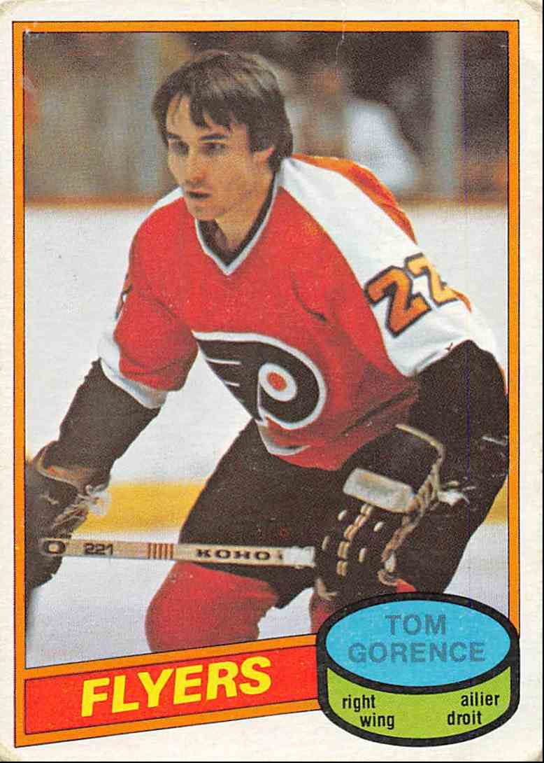 1980-81 O-Pee-Chee Tom Gorence #368 card front image