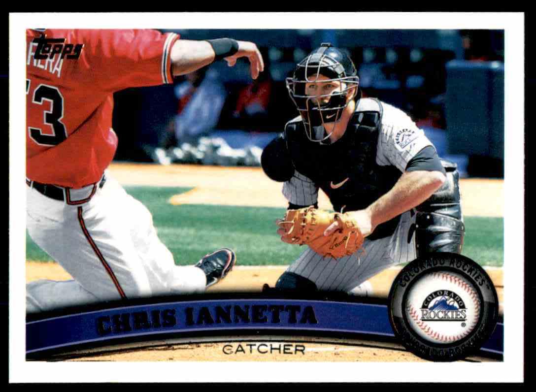 2011 Topps Chris Iannetta #560 card front image