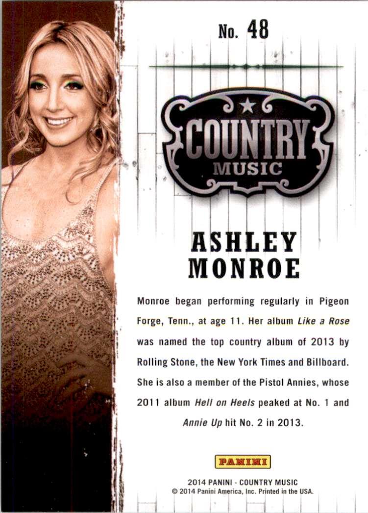 2015 Country Music Retail Ashley Monroe #48 card back image