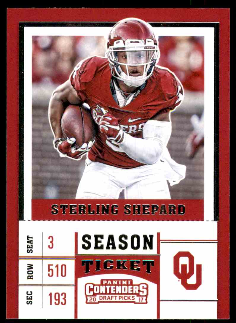 2017 Panini Contenders Draft Picks Sterling Shepard #88 card front image