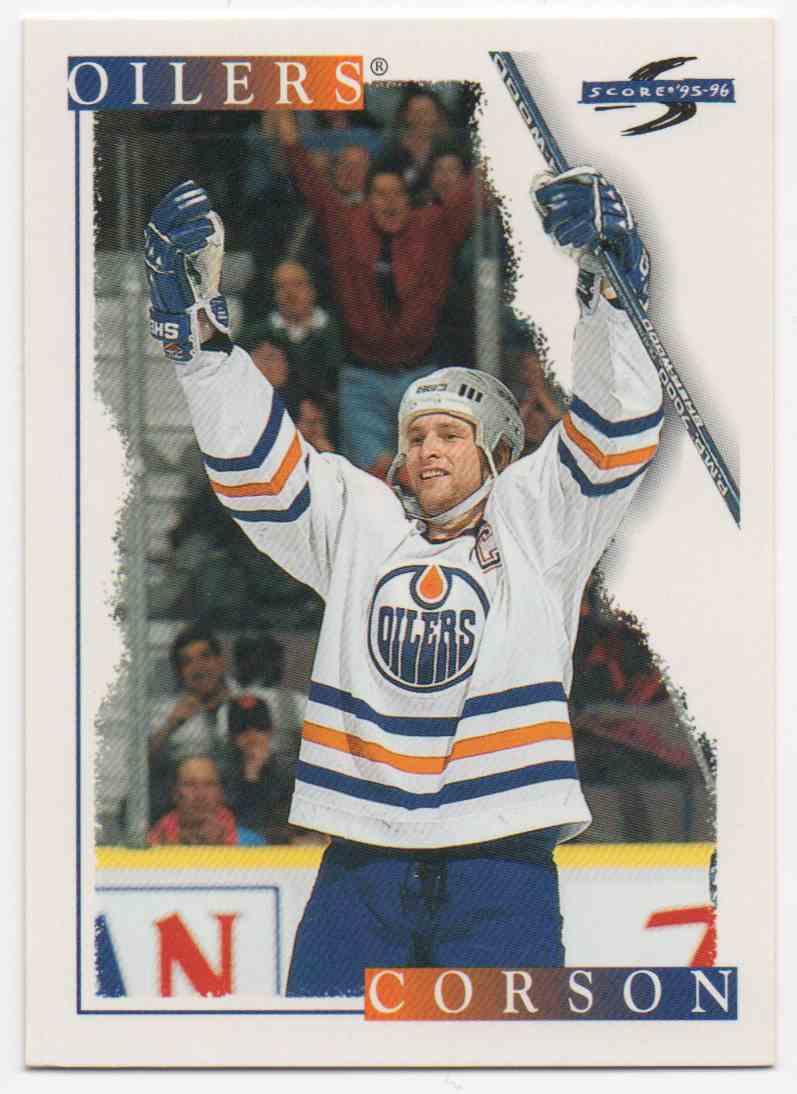 1995-96 Score Shayne Corson #245 card front image
