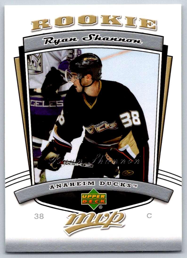2006-07 Upper Deck MVP Ryan Shannon #315 card front image