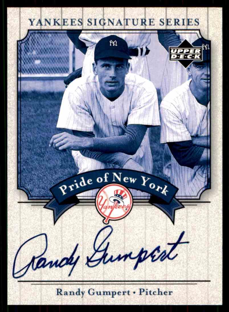 2003 Upper Deck Yankees Siganture Series Randy Gumpert card front image