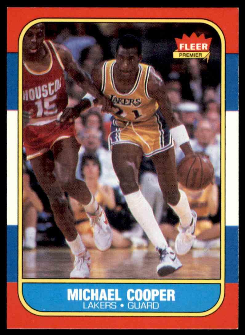 1986-87 Fleer Michael Cooper #17 OF 132 card front image