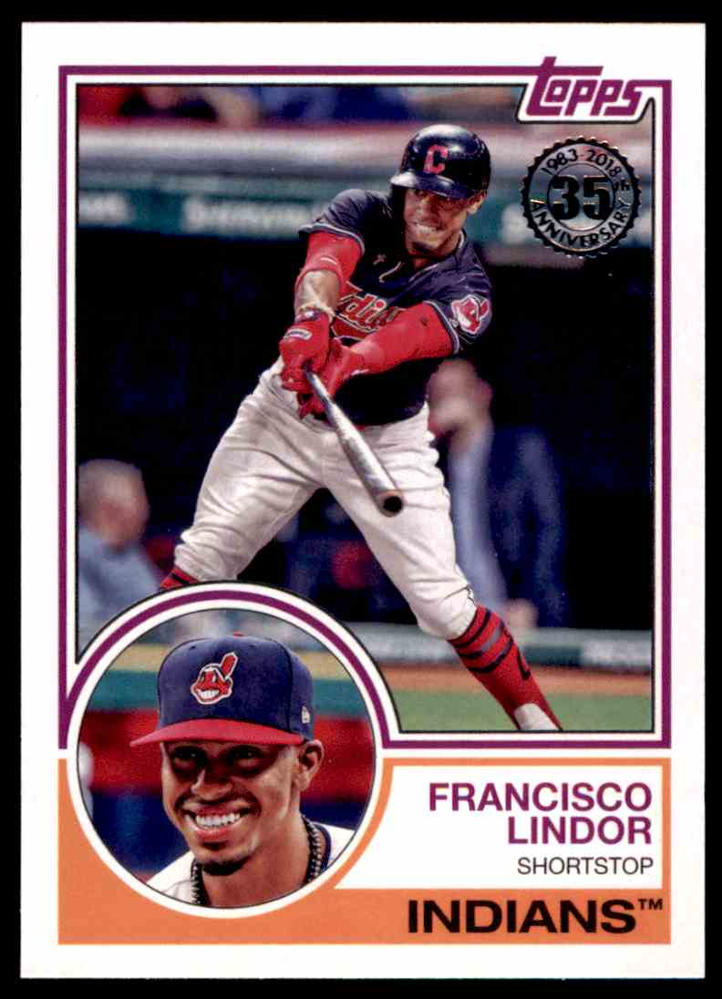 2018 Topps 1983 Francisco Lindor Cleveland Indians 83 95 On