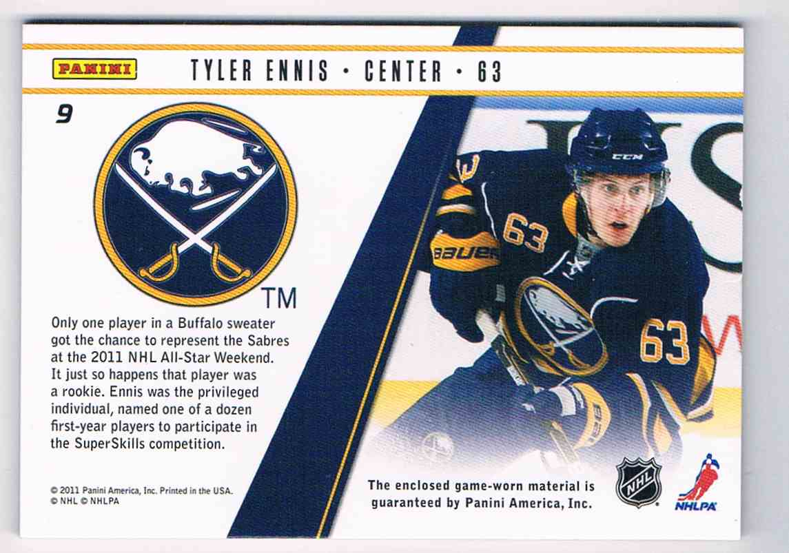 2010-11 Zenith Rookie Roll Call Tyler Ennis #9 card back image