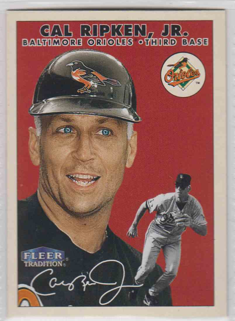 Image result for 2000 fleer tradition cal ripken jr.