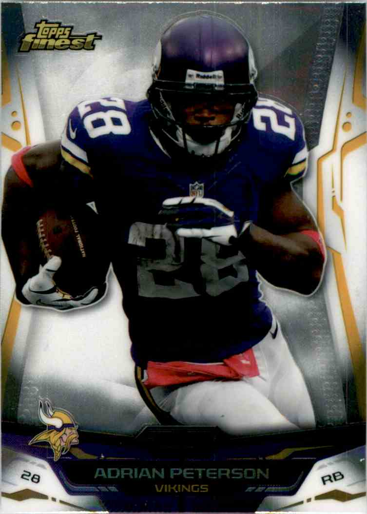 2014 Finest Adrian Peterson #1 card front image