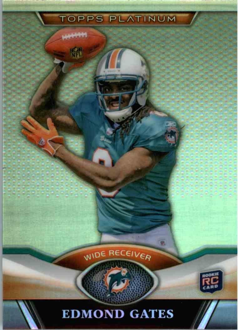 2011 Topps Platinum Edmond Gates #62 card front image