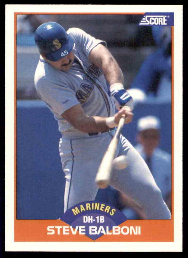 1989 Score Regular Steve Balboni #353 card front image
