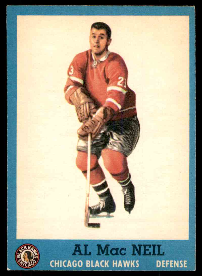 1962-63 Topps Al MacNeil #32 card front image