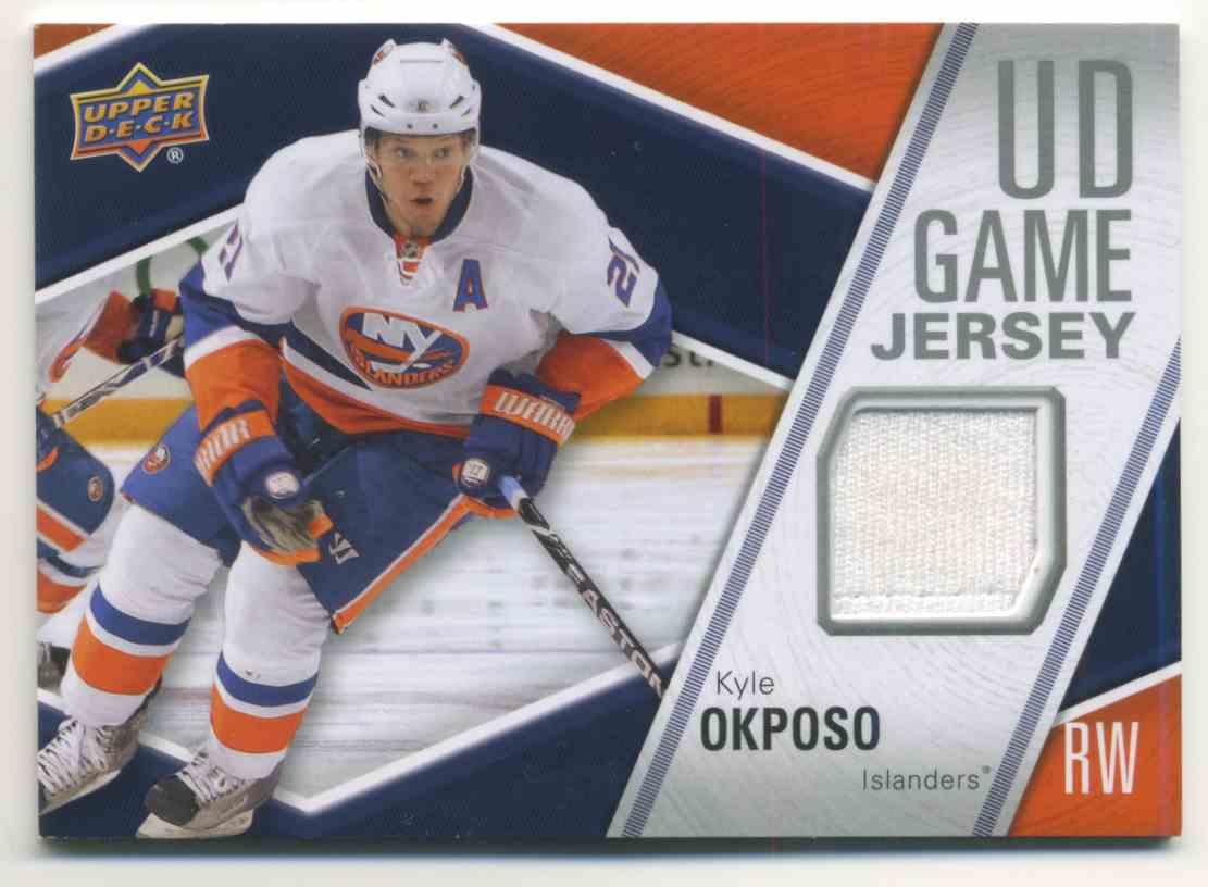 2011-12 Upper Deck Game Jersey Kyle Okposo #GJ-OK card front image
