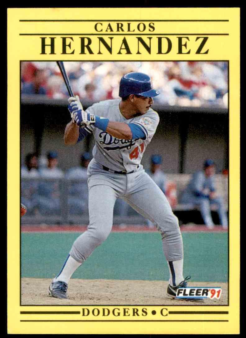 1991 Fleer Carlos Hernandez #207 card front image
