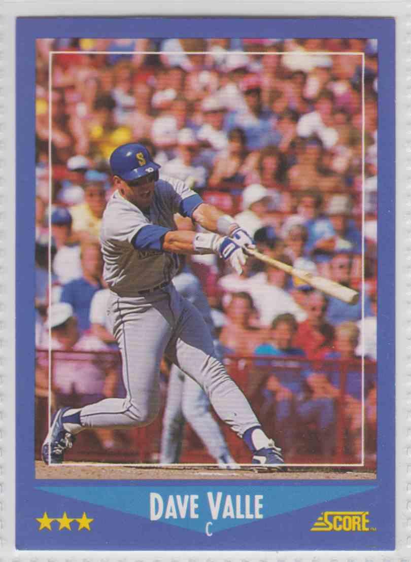 1988 Score Dave Valle 126b On Kronozio