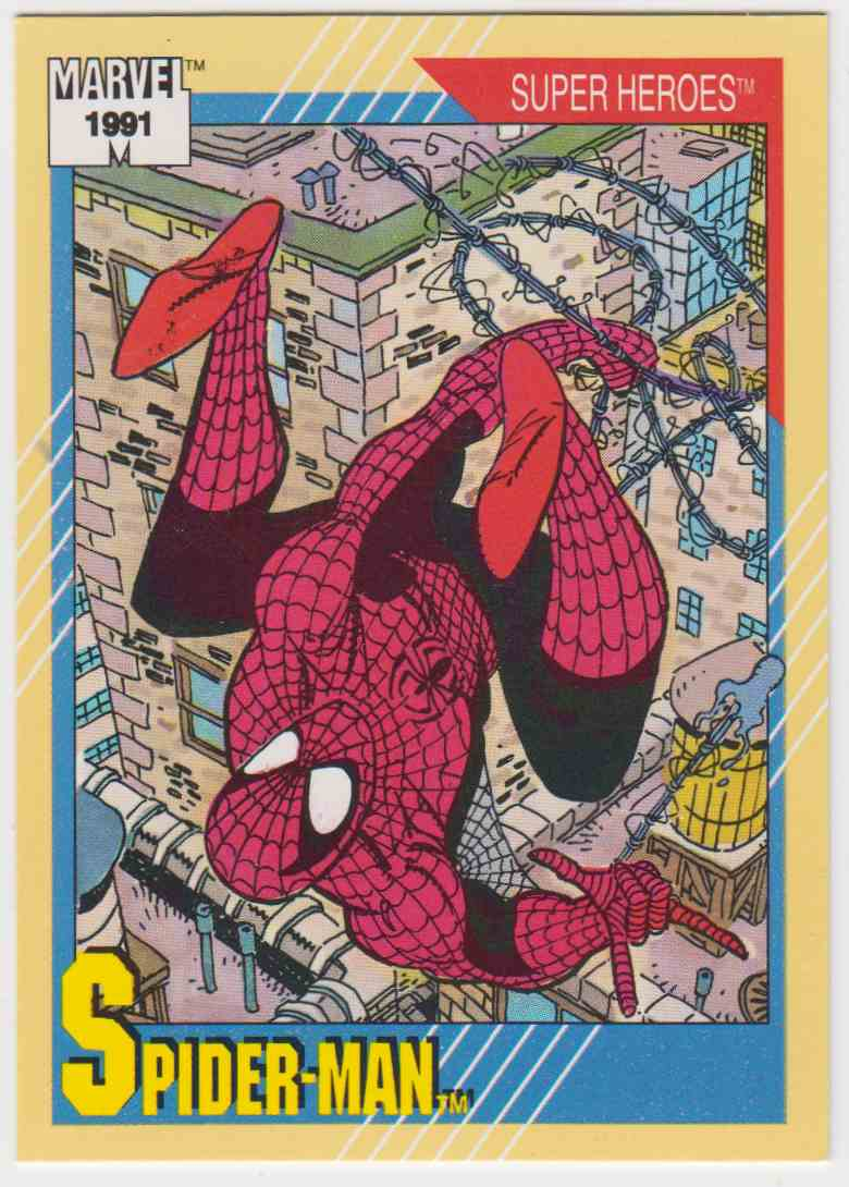 1991 Impel Marvel Universe Spider-Man #1 card front image
