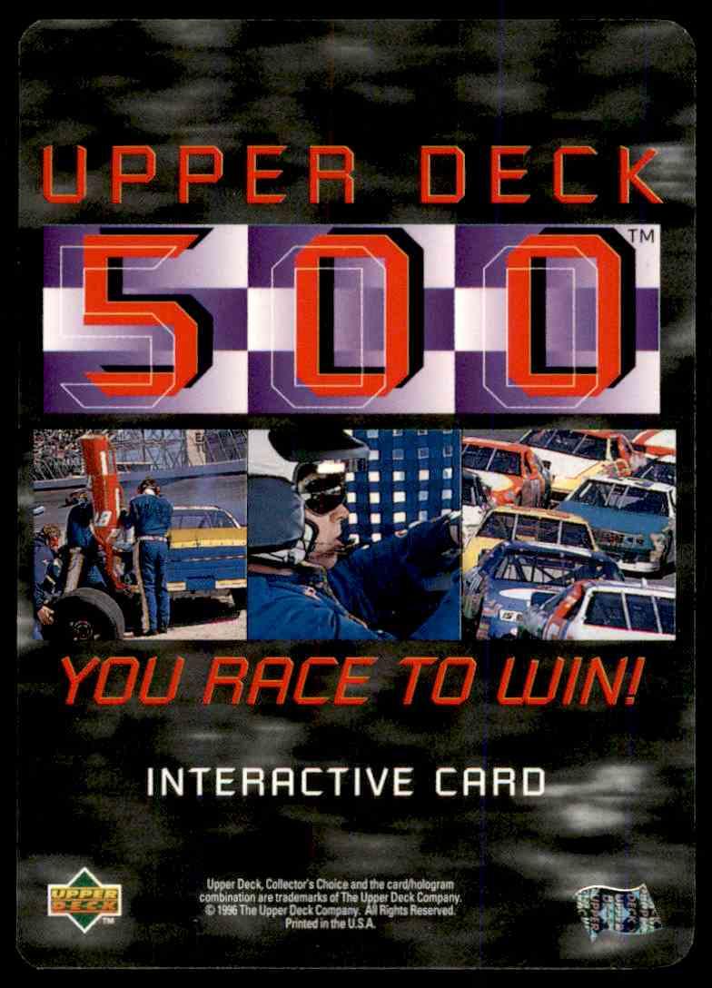 1996 Upper Deck Wally Dallenbach #UD30 card back image
