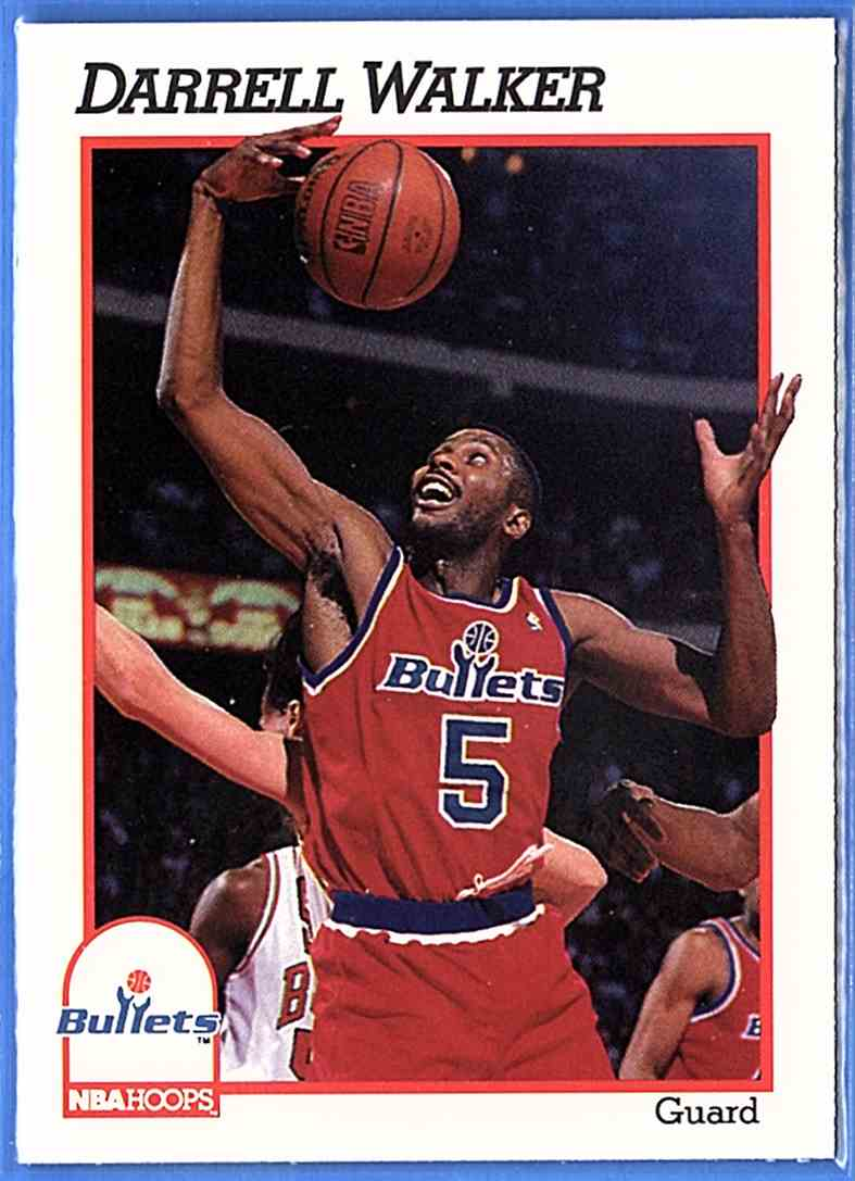 1991-92 Hoops Darrell Walker #219 card front image