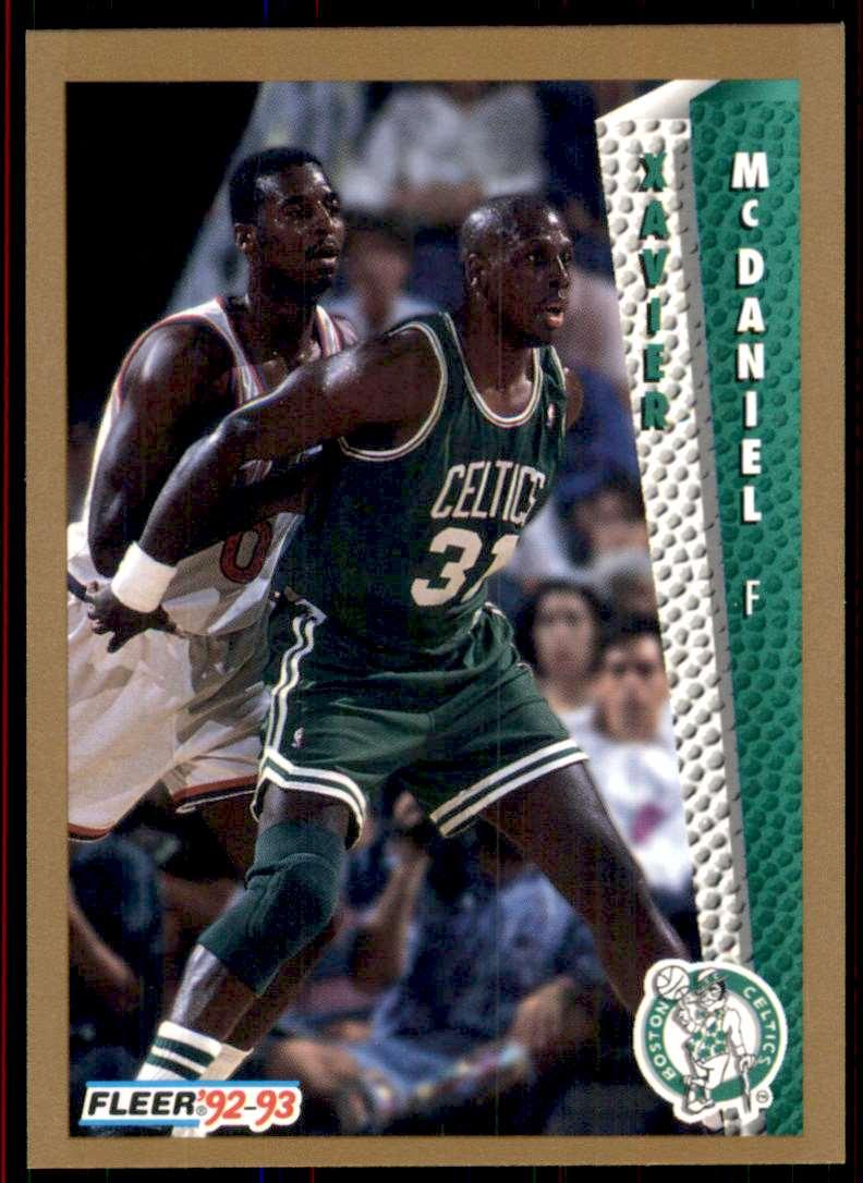 1992-93 Fleer Xavier McDaniel #307 card front image