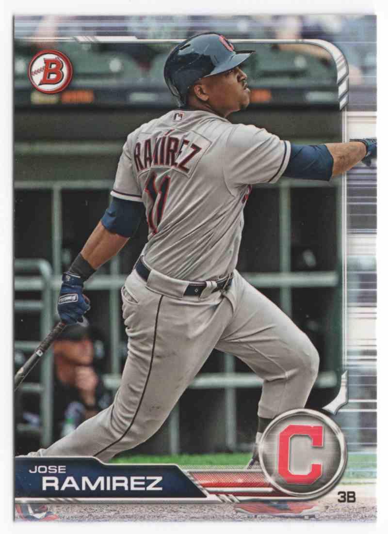2019 Bowman Jose Ramirez #66 card front image
