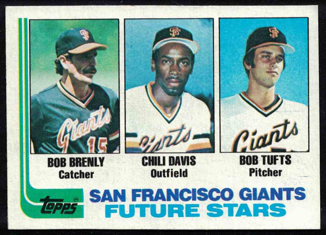 1982 Topps Chili Davis, Bob Brenly NM #171 card front image