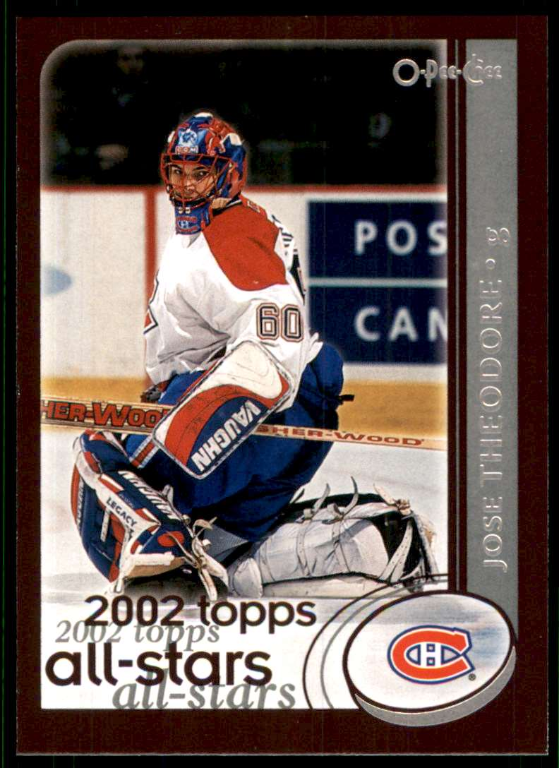 2002-03 O-Pee-Chee Jose Theodore #319 card front image