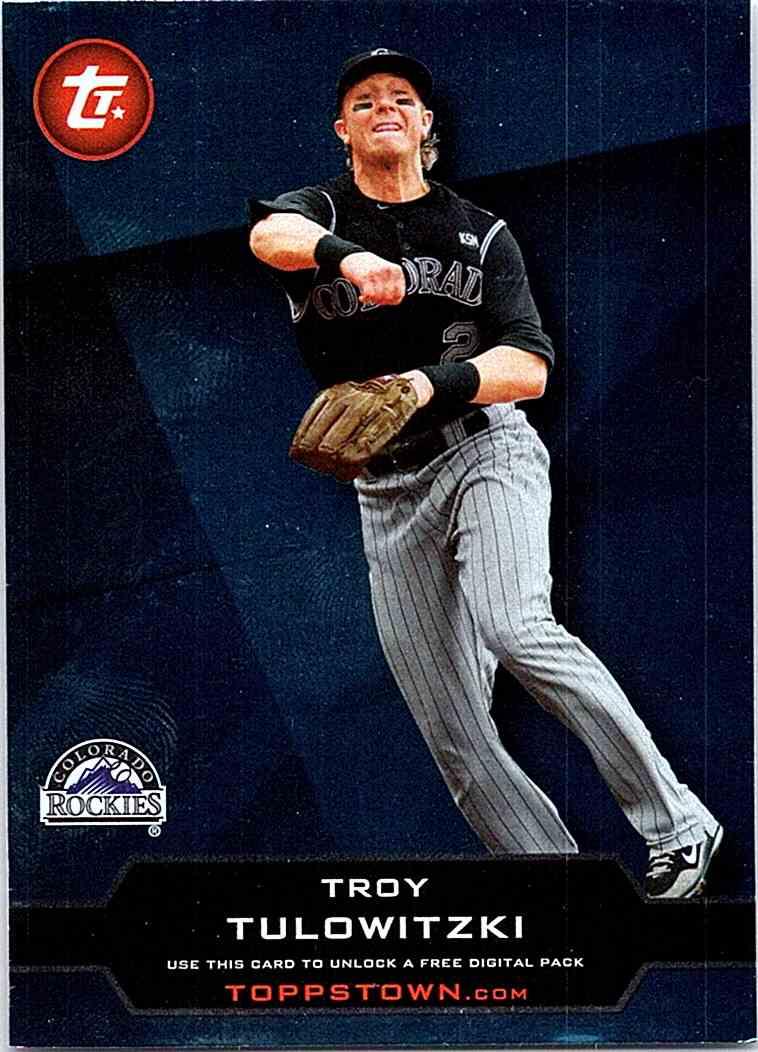 2011 Topps Topps Town Troy Tulowitzki Tt 48 On Kronozio