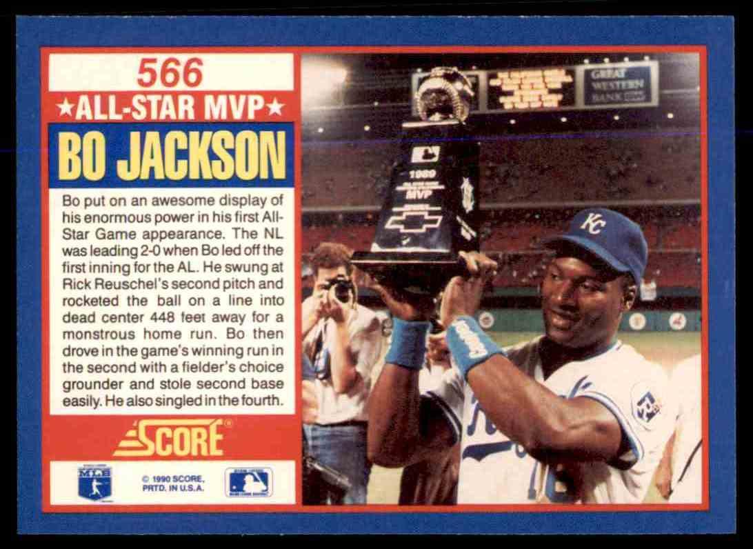 1990 Score All Star Mvp Bo Jackson 566 On Kronozio