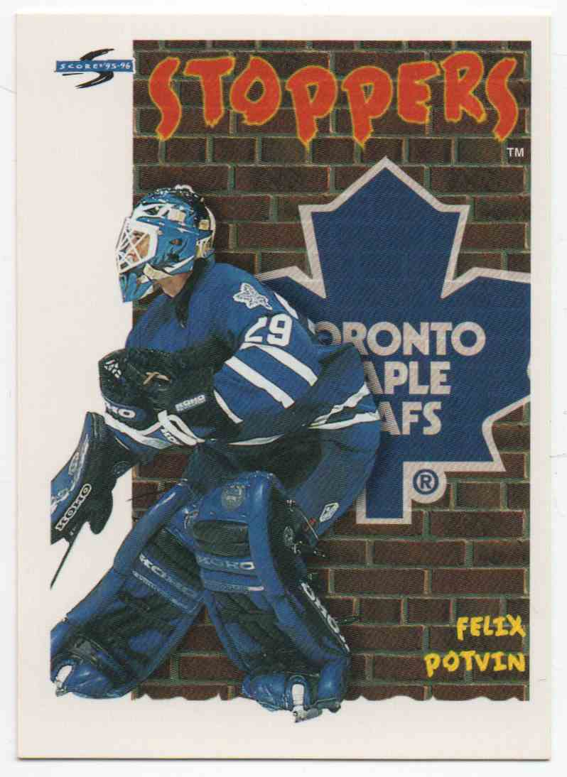 1995-96 Score Felix Potvin #316 card front image