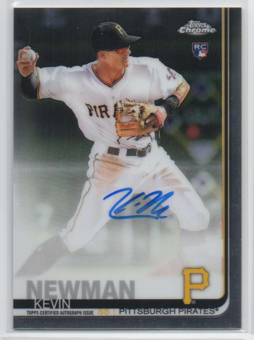 2019 Topps Chrome Rookie Autographs Kevin Newman #RA-KN card front image