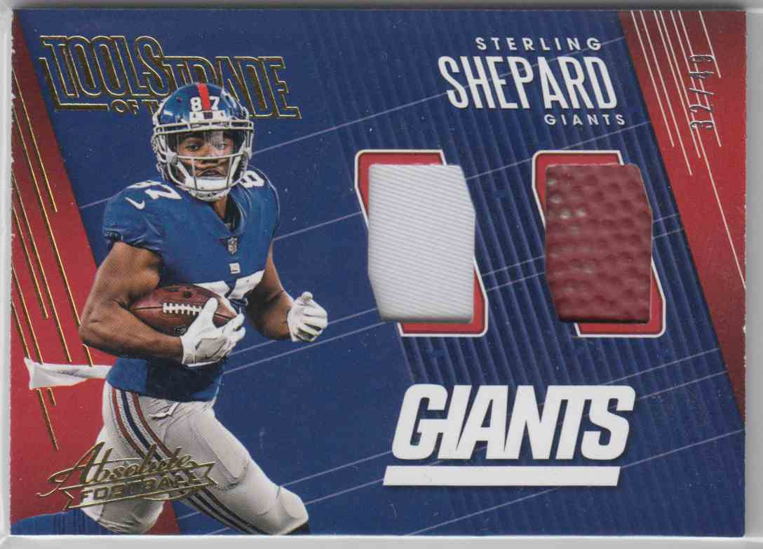 2018 Panini Absolute Tools Of The Trade Double Prime Sterling Shepard #STD-SS card front image