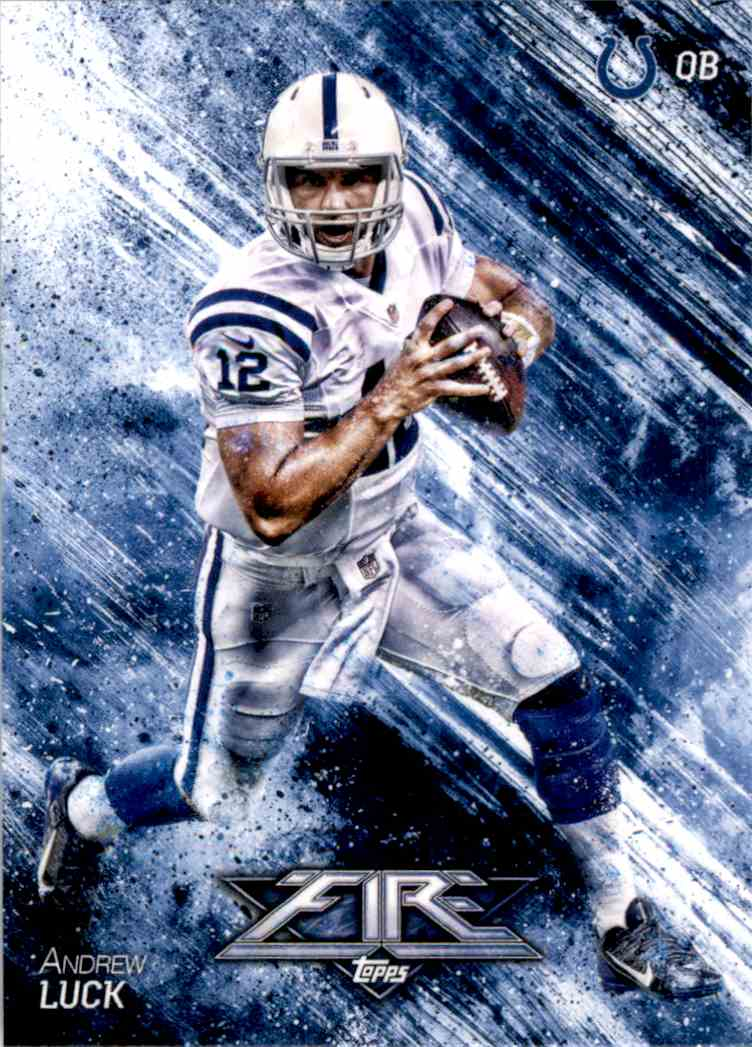 2014 Topps Fire Andrew Luck #24 card front image