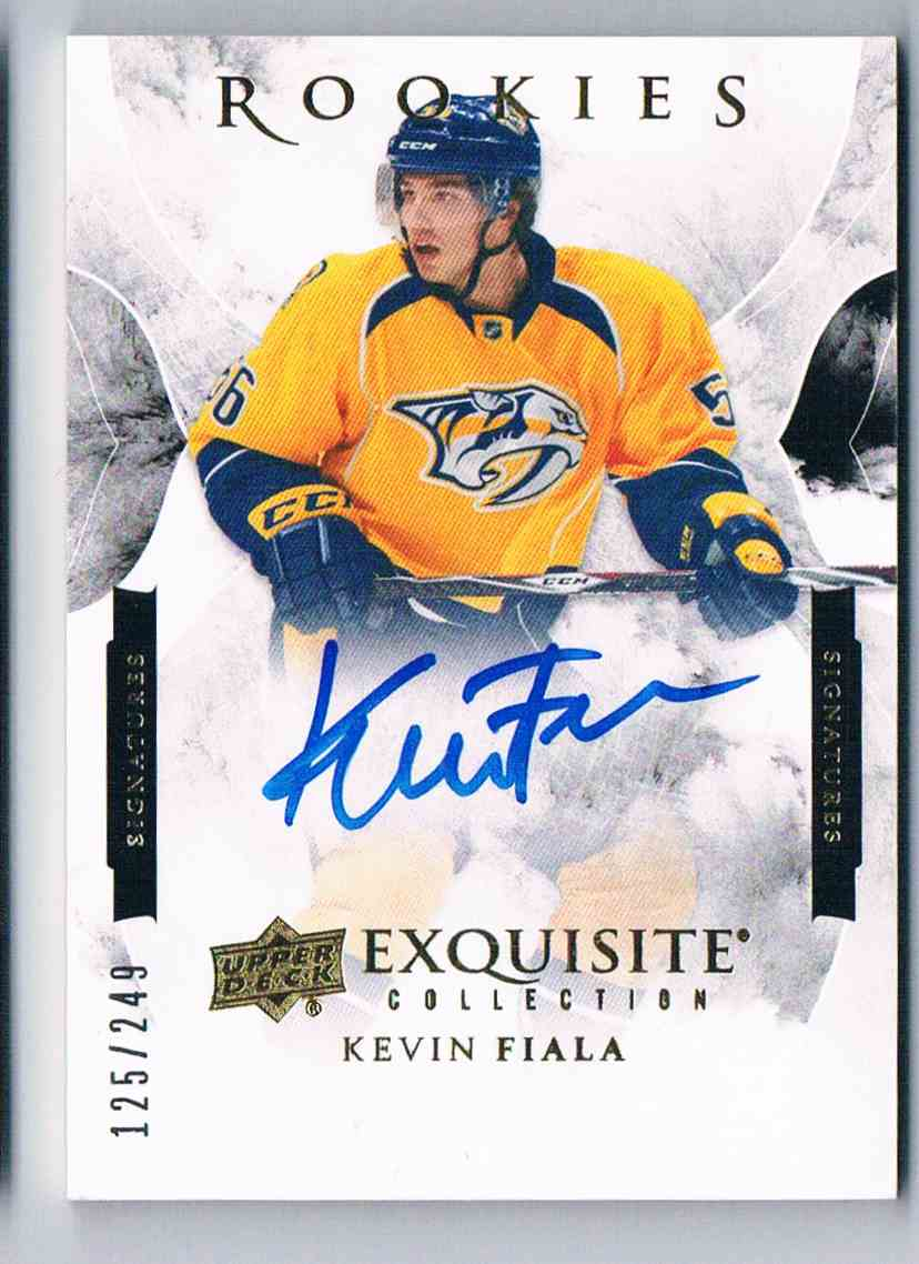 2015-16 Upper Deck Exquisite Collection Rookies Signatures Kevin Fiala #ESRP-KF card front image
