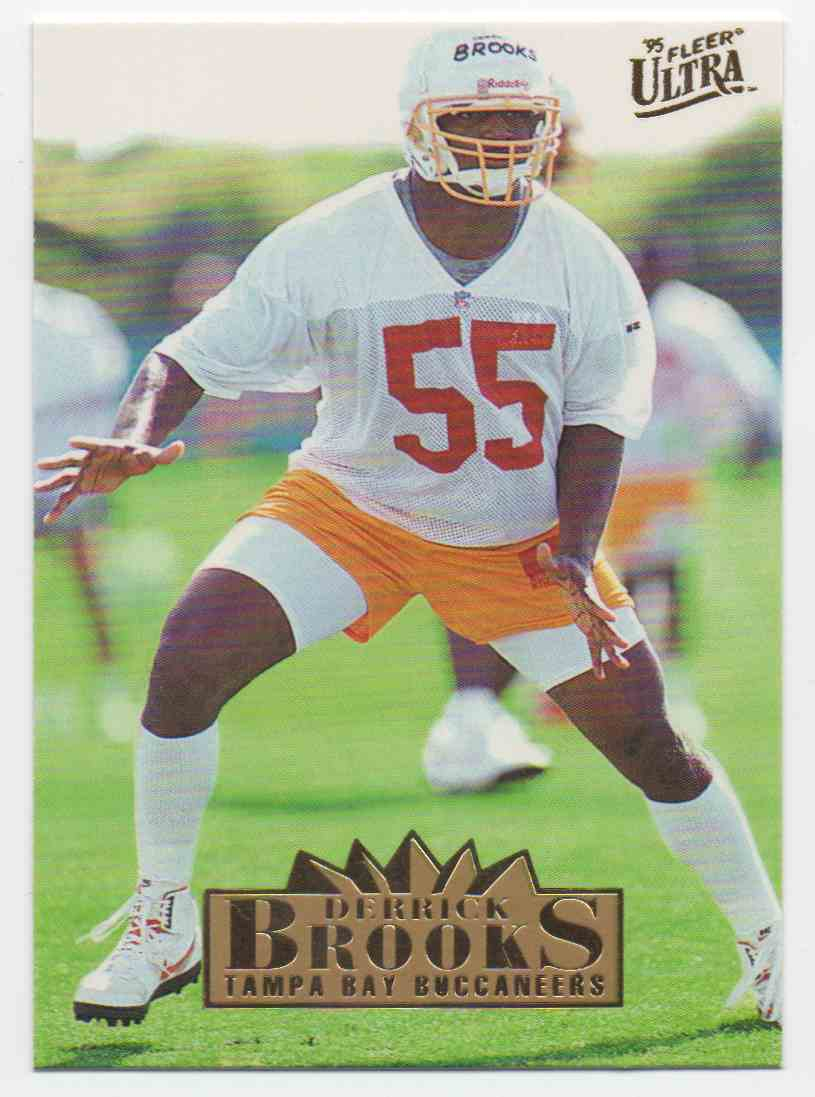 1995 Ultra Derrick Brooks #322 card front image