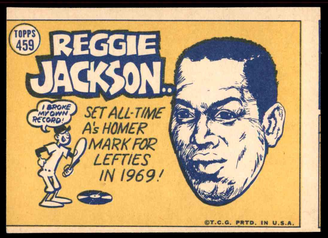 1970 Topps Reggie Jackson All Star 459 On Kronozio