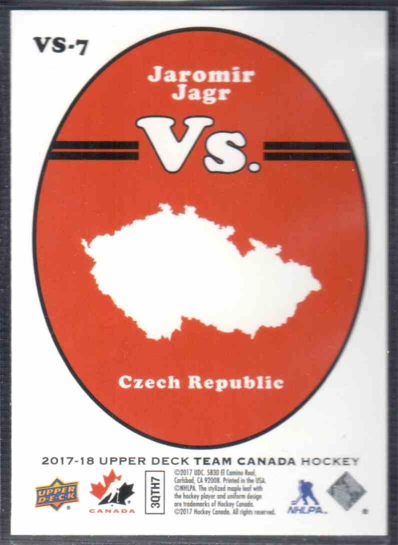 2017-18 Upper Deck Team Canada Canadian Tire Vs. Jaromir Jagr #VS-7 card back image