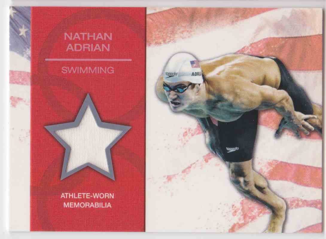 2012 Topps U.S. Olympic Team Relic Nathan Adrian #OR-NA card front image