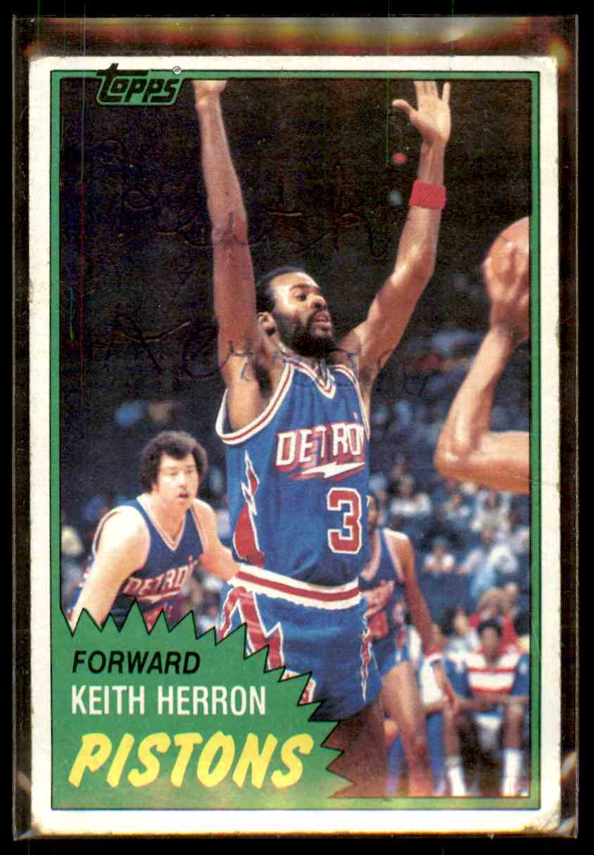 1981-82 Topps Autograph Keith Herron #81 card front image