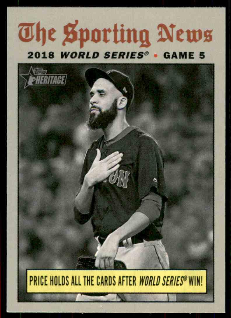 2019 Topps Heritage David Price Ws Hl #309 card front image