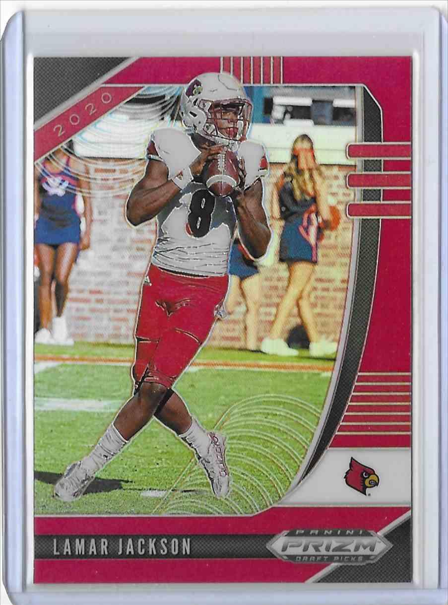 2020 Panini Prizm Draft Picks Red Lamar Jackson #63 card front image