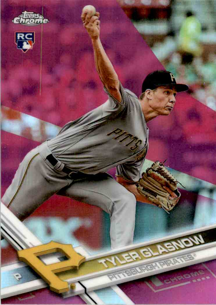 2017 Topps Chrome Pink Refractor Tyler Glasnow #189 card front image