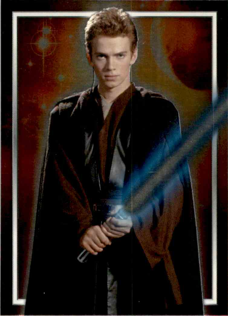 2002 Star Wars Attack Of The Clones Uk Character Foil Anakin Skywalker #C1 card front image