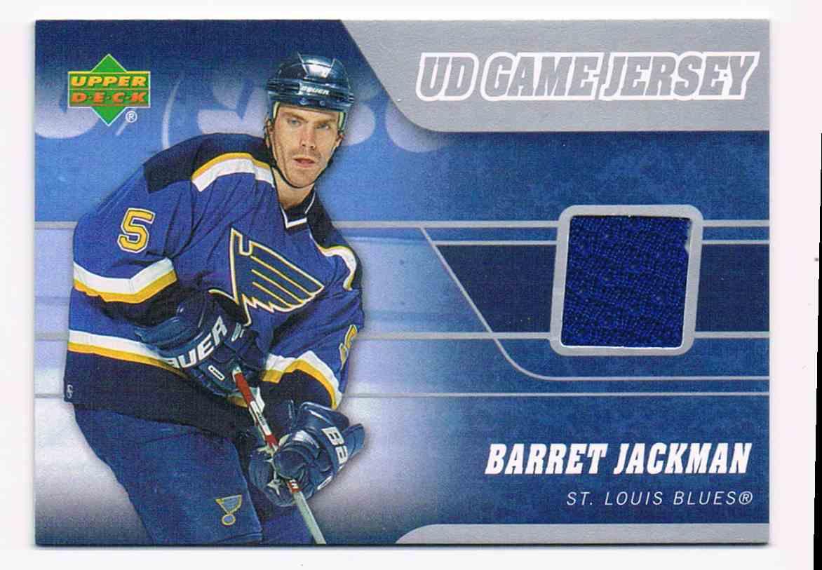 2006-07 Upper Deck UD Game Jersey Barret Jackman #J-BA card front image