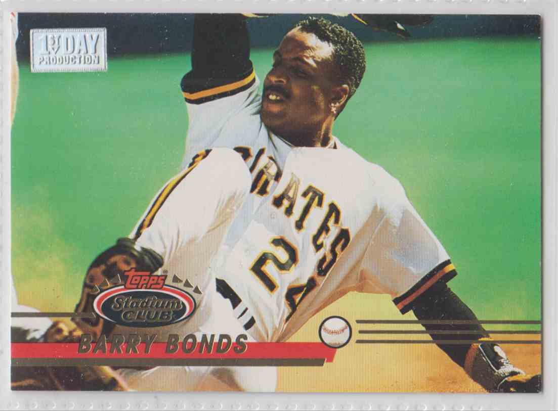 1993 Topps Stadium Club First Day Barry Bonds #51A card front image