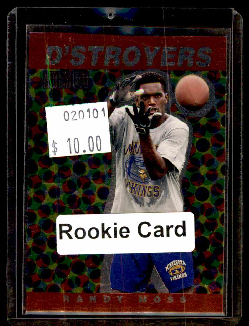 1998 Skybox Premium D'Stroyers Randy Moss #4D card front image